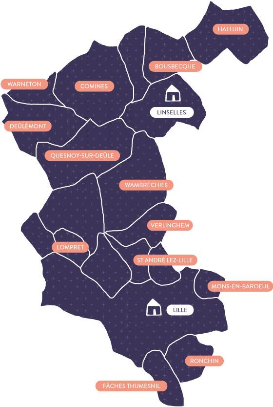 Territoire d'intervention ESAD
